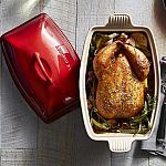 Le Creuset Heritage Stoneware Deep Covered Baker $80