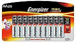20-Count Energizer Max Alkaline Battery $6.67 (add-on item)