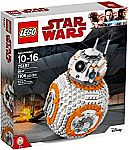 LEGO Star Wars BB-8 75187 Building Kit (1106 Piece) $71