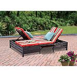 Mainstays Double Chaise Lounger, Stripe, Seats 2 $110 (was $289) and more