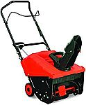"YARDMAX YB4628 Single Stage Snow Thrower, 87cc, 18"" $196"