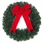 (Price error?) 6-Pack 20 in. Noble Pine Artificial Wreath with Red Bow $6.98