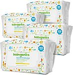 400-Count Babyganics Face, Hand & Baby Wipes, Fragrance Free $6.64
