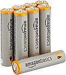 8-Count AmazonBasics AAA Performance Alkaline Batteries $0.73 (Pantry Items)