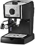 DeLonghi EC155M Manual Espresso Machine, Cappuccino Maker $60