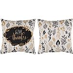 "2-pc Mainstays ""Give Thanks"" Decorative Throw Pillow $5"