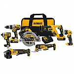 7-Tool DeWALT 20V MAX XR Li-Ion Cordless Brushless Combo Kit $599