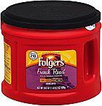 24.2oz Folgers French Medium Dark Roast Ground Coffee $3.24