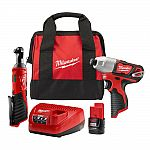 Milwaukee 12-Volt Cordless Impact Driver and 3/8 in. Ratchet Combo Kit $99 (50% Off ) & More + Free Shipping