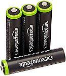 4-pk AmazonBasics AAA Rechargeable Batteries $4.99