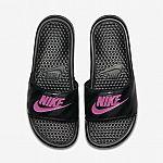 Nike Benassi Women's Slides (Black / Pink) $15