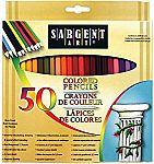 Sargent Art Premium Coloring Pencils, Pack of 50 $5