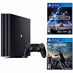 Playstation 4 Pro 1TB Console + Start War Battle Front 2 + Final Fantasy XV $400, Wii U 32GB Deluxe - REFURBISHED $175
