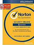 Norton Security Deluxe 5 Device [Key Card] $19.99