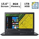 Acer Aspire 3 Laptop (i5-7200U 8GB 1TB) $350, HP 15-BS078NR Laptop (i7-7500U 8GB 1TB) $450 and more