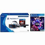 PlayStation VR 2nd Gen GranTurismo Sport Bundle + PSVR-VR Worlds $300