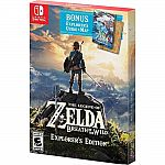 The Legend of Zelda Breath of the Wild Explorer's Edition (Nintendo Switch) $48