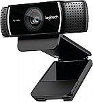 Logitech 1080p Pro Stream Webcam $64