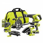 Ryobi 18-Volt ONE+ Cordless Lithium-Ion 7-Tool Combo Kit with (2) 1.3 Ah Batteries, Charger and Bag $159 (orig. $399)