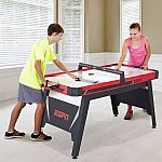 ESPN 60 Inch Air Powered Hockey Table with Overhead Electronic Scorer $38.47