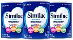 3-Pack of 36-oz Similac Advance Infant Formula $58 (Save 50%) & More