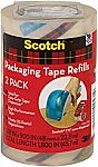 Scotch Packaging Tape Refill, 1.88 x 900 Inches, Clear, 2 Pack $2.28 (Back Order)