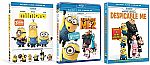 Despicable Me + Despicable Me 2 + Minions (Blu-Ray/DVD/Digital HD) $5.49  (Org $37.47)