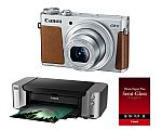 Canon PowerShot G9 X 20.2MP Compact Digital Camera (Silver) w/ Pixma Pro-100 Printer + Paper $299 (After Rebate) & more