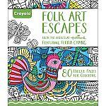 Crayola Folk Art Coloring Book $1.91 + Free shipping