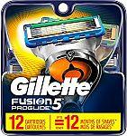 12-Count Gillette Fusion5 ProGlide Men's Razor Blades Refills $23.61