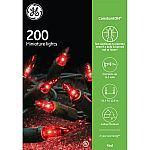 GE 200CT ConstantON Miniature Christmas Lights String Set - Red $4.87 (Org $9.98)