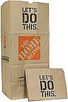 5-pack The Home Depot 49022 Heavy Duty Brown Paper Lawn and Refuse Bags 30 gal $1.97