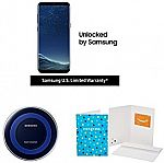 Samsung Galaxy S8+ Unlocked Phone + Qi Charger + $100 Amazon GC $725