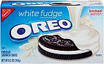 4-Pack Oreo Limited Edition Sandwich Cookies, White Fudge Chocolate Covered, (8.5 Ounce) $8.94