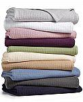 Lauren Ralph Lauren Classic 100% Cotton Blankets Twin $27, Queen $30, King $36 and more