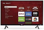 "55"" TCL 4K Roku Smart LED HDTV $320"