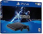 PlayStation 4 Slim 1TB Console - Star Wars Battlefront II Bundle $250