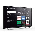 "Hitachi 60"" Class 4K (2160P) Roku Smart LED TV $480"
