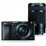 Sony Mirrorless Camera Sale at BuyDig: a6000 with 2 Lenses Bundle + $50 Gift Card $698 and more