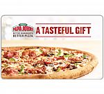 $50 Papa John's, Dominos Gift Card $40 and more $100 Brookstone Gift Card $85
