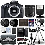 Canon Rebel T6 DSLR bundle w/ 18-55mm lens, 16gb sd card, tripod, bag and more $350