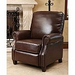 Braxton Leather Pushback Recliner $200 (Org $449)