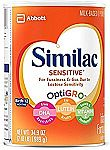 3-Pack of Similac Infant Formula 1 Month Supply $52 (Sensitive) or $58 (Advance)