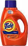 32 Loads Tide HE Laundry Detergent Original Scent (50.0 fl oz) $2.99 and more
