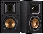 "Klipsch R-14M 4"" Reference Bookshelf Speakers (Pair, Black) $79 (Prime)"