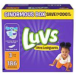 Luvs Ultra Leakguards Diapers (Various Size) $22.98 + Get $25 Gift Card on $100 w/ Club pickup or Scan & Go
