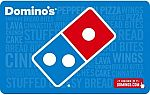 $50 Domino's Pizza Gift Card $40, and more