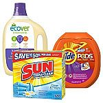 20% Off on Laundry Supplies (Tide, Downy, Shout & More)