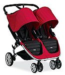 Britax 2015 B-Agile Double Stroller, Red $240