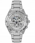 Citizen Eco-Drive Mens Sport Stainless Watch 43mm AT2129-58A $144.49 (Was $375)